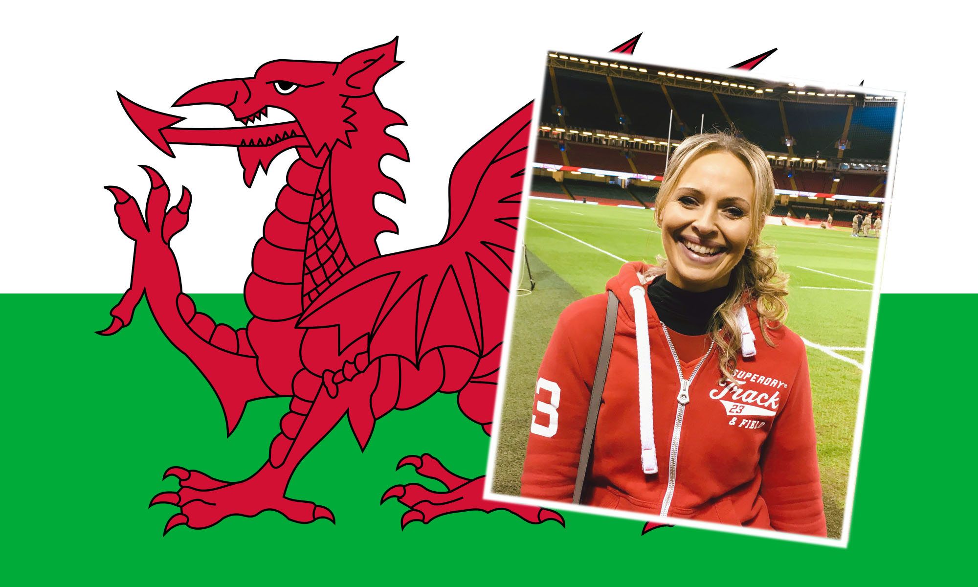 Inset: Joanne Haworth from Milford Haven is 'excited and nervous' to be at the game today.