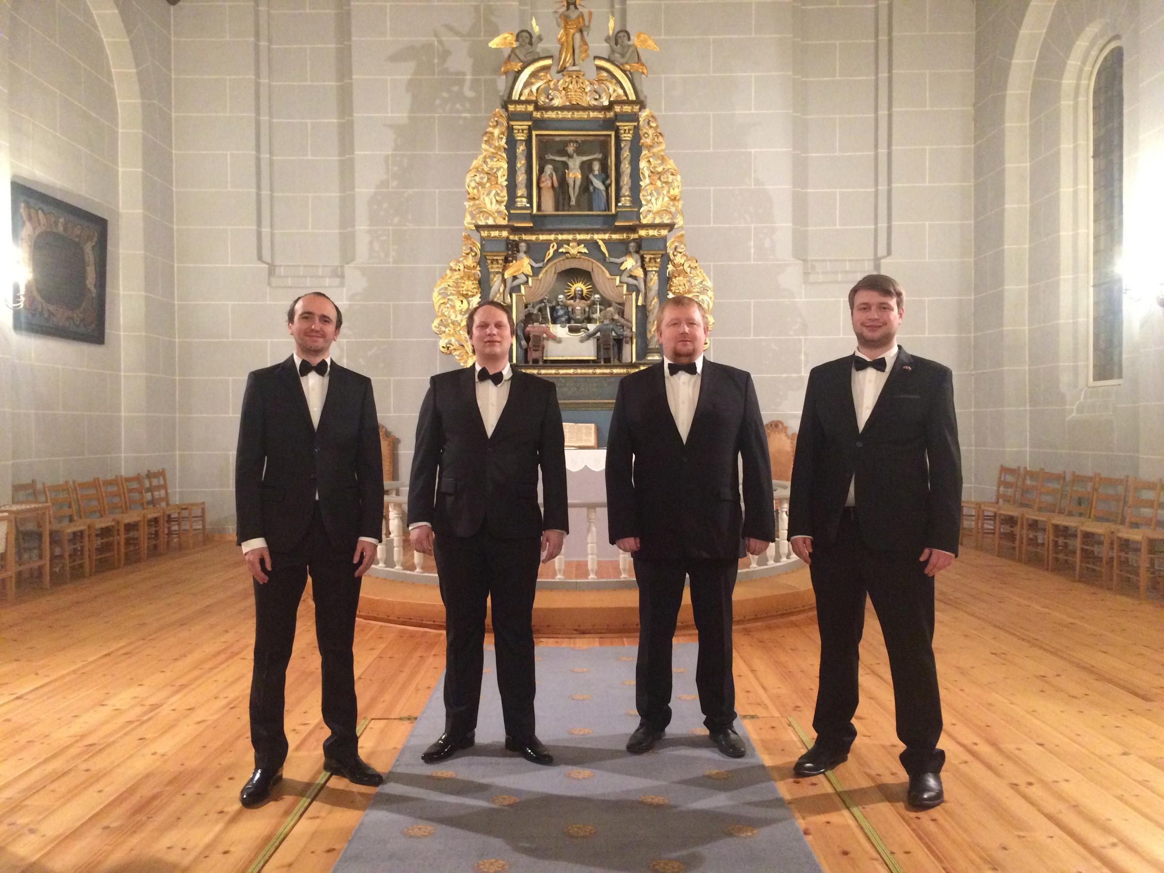 The Nikolsky Male Ensemble, who will appear at St Jerome's, Llangwm on April 20.