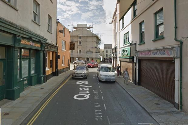 Western Telegraph: The assault took place in Quay Street, Haverfordwest.