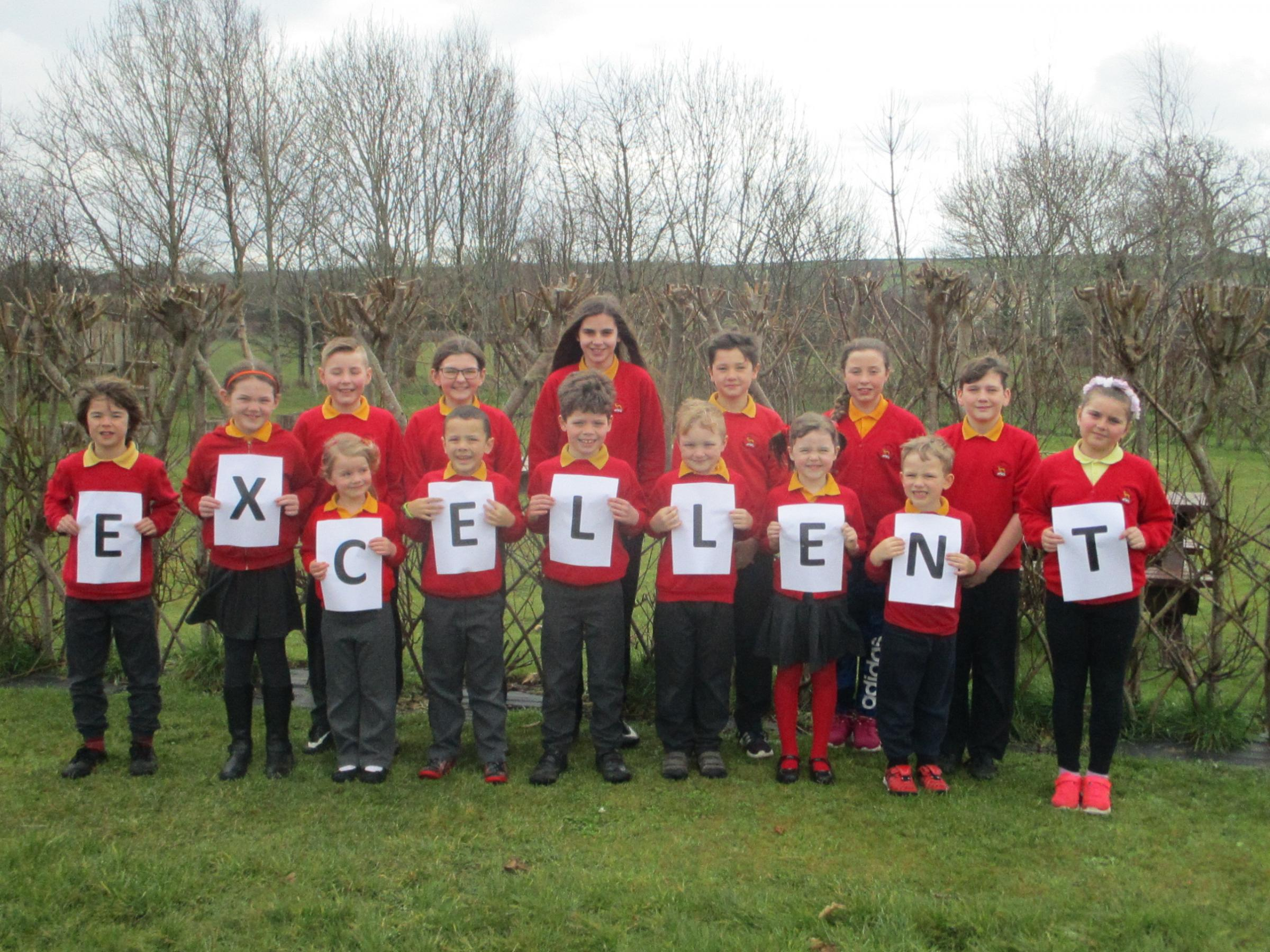 Lamphey Primary School has been identified as being excellent in a recent inspection report by ESTYN.