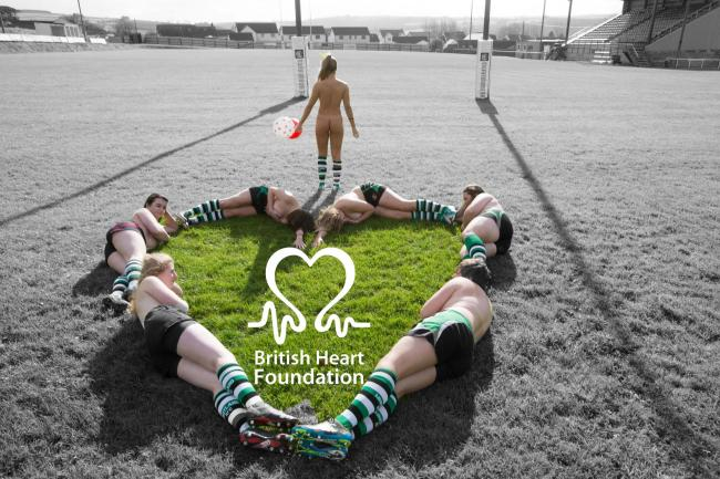 Whitland RFC's calendar girls pose for their fund-raising calendar. PICTURE: Riley Sports Photography.