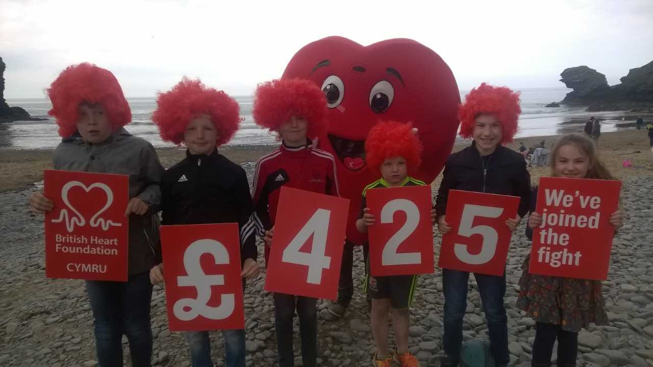 Llew John raised more than £400 for BHF by asking for donations instead of birthday presents.