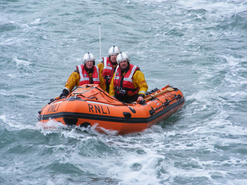 Little and Broad Haven lifeboat was launched to reports of a man overboard yesterday. PICTURE: RNLI