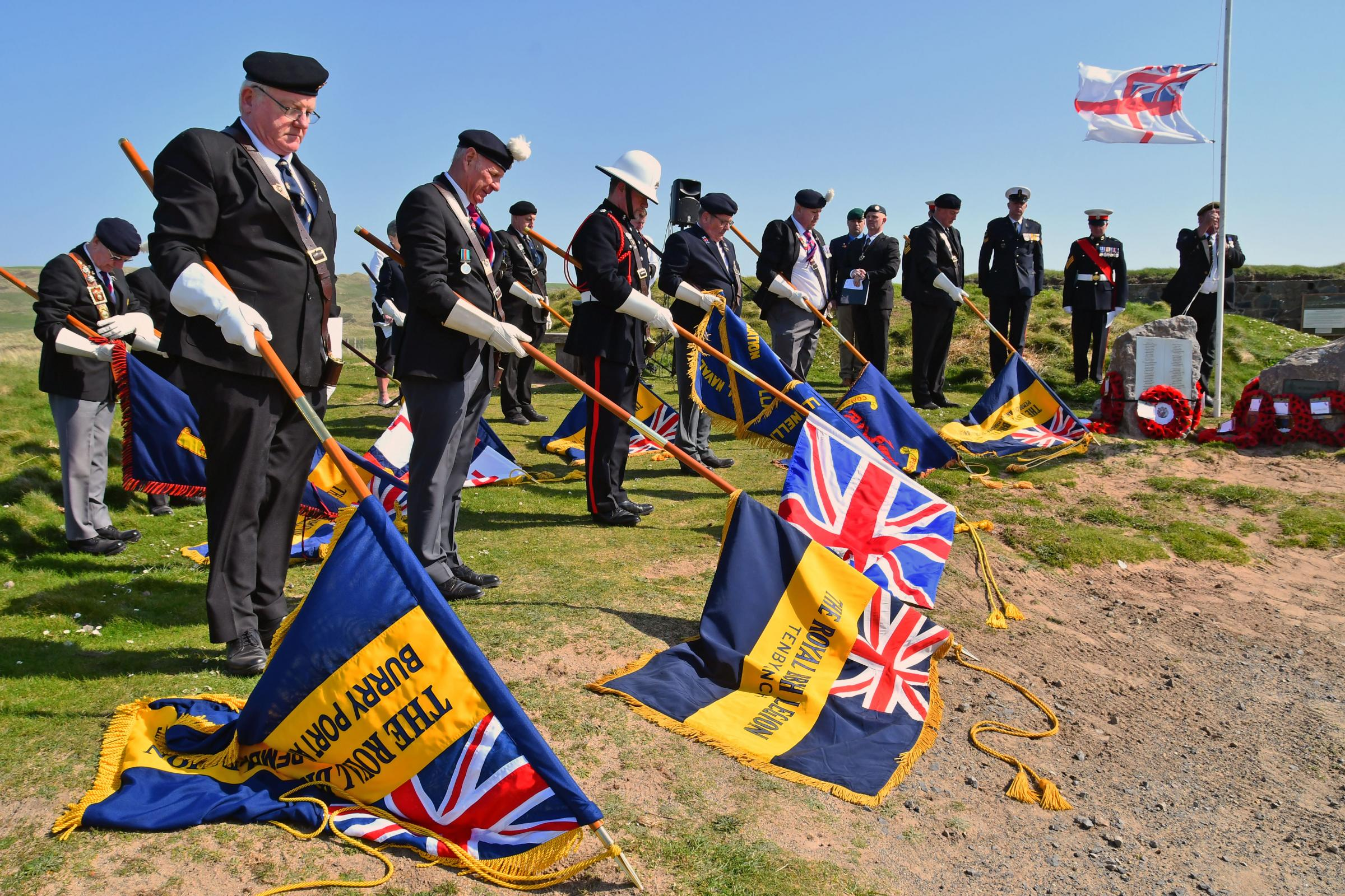 A service was held today to remember the Freshwater West HMS Rosemary/ landing craft tragedy. PICTURE: Martin Cavaney