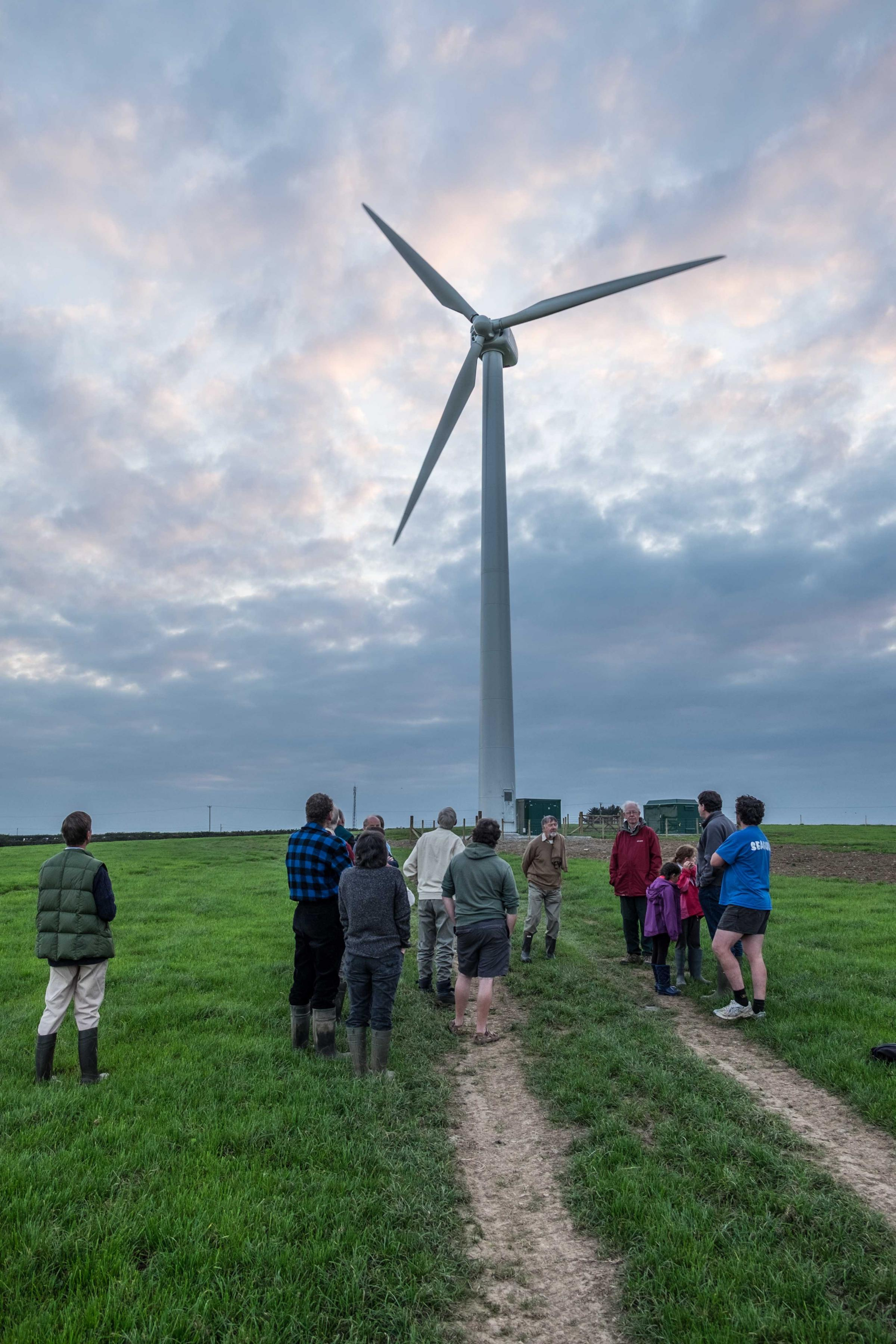 The Abergwaun Community Turbine is a joint collaboration between a local farmer and Transition Bro Gwaun.