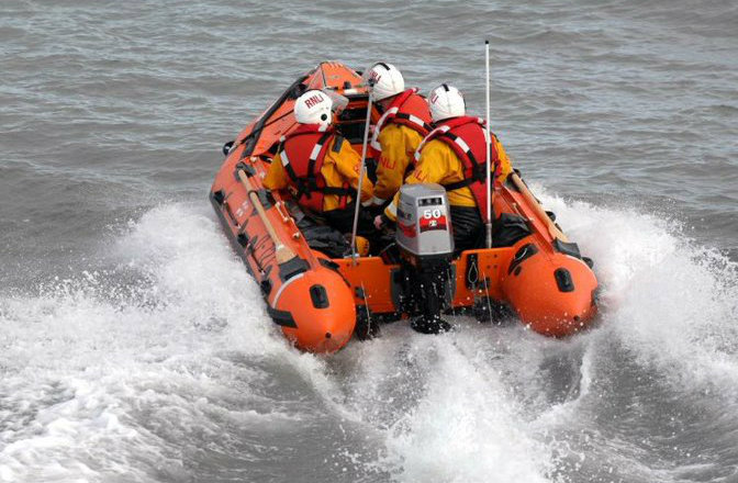 Tenby's inshore lifeboat was launched to reports of a person in difficulty. PICTURE: Tenby RNLI Twitter