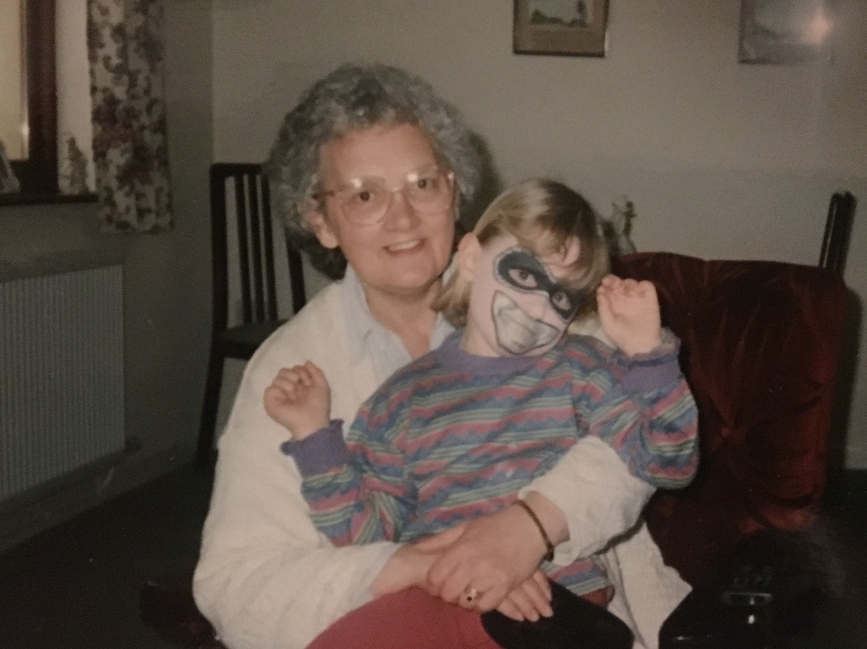 Lucy Blayney, aged 6, with her nan Shirley Blayney. PICTURE: Lucy Blayney