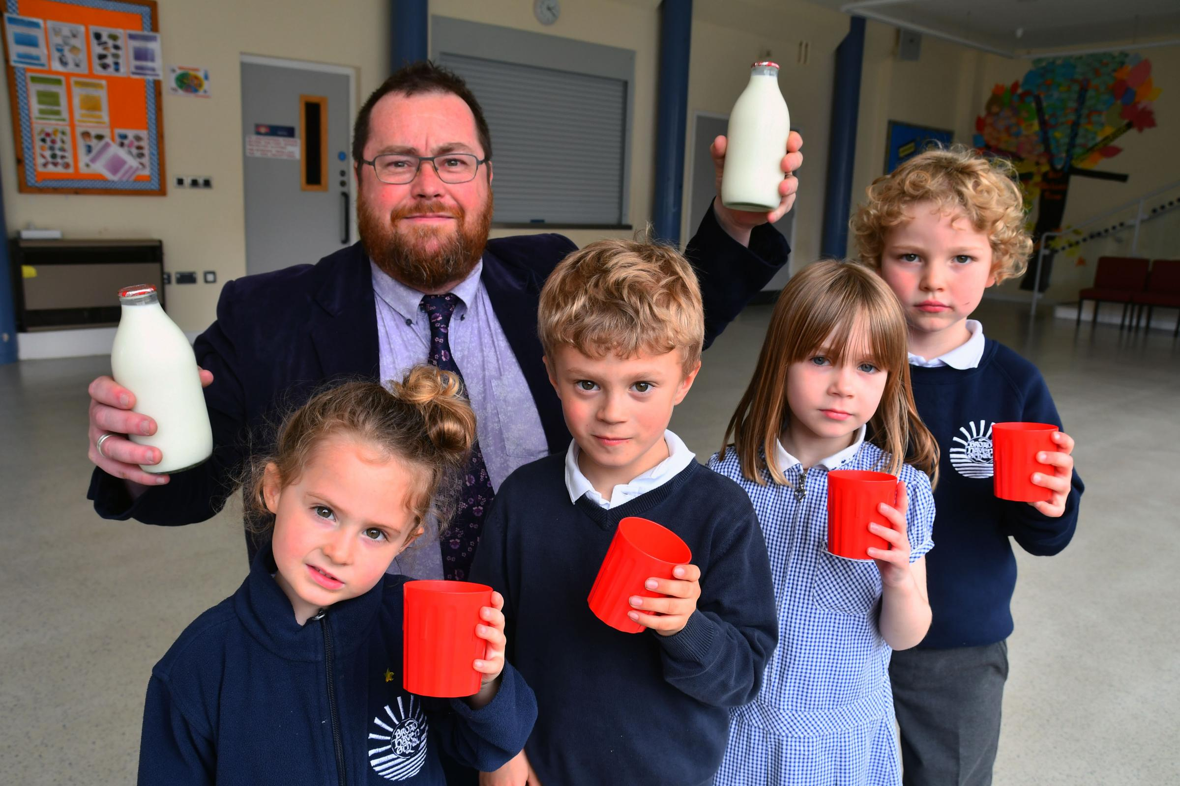 Glass bottle milk deliveries are helping Broad Haven Community School to become a plastic-free school.