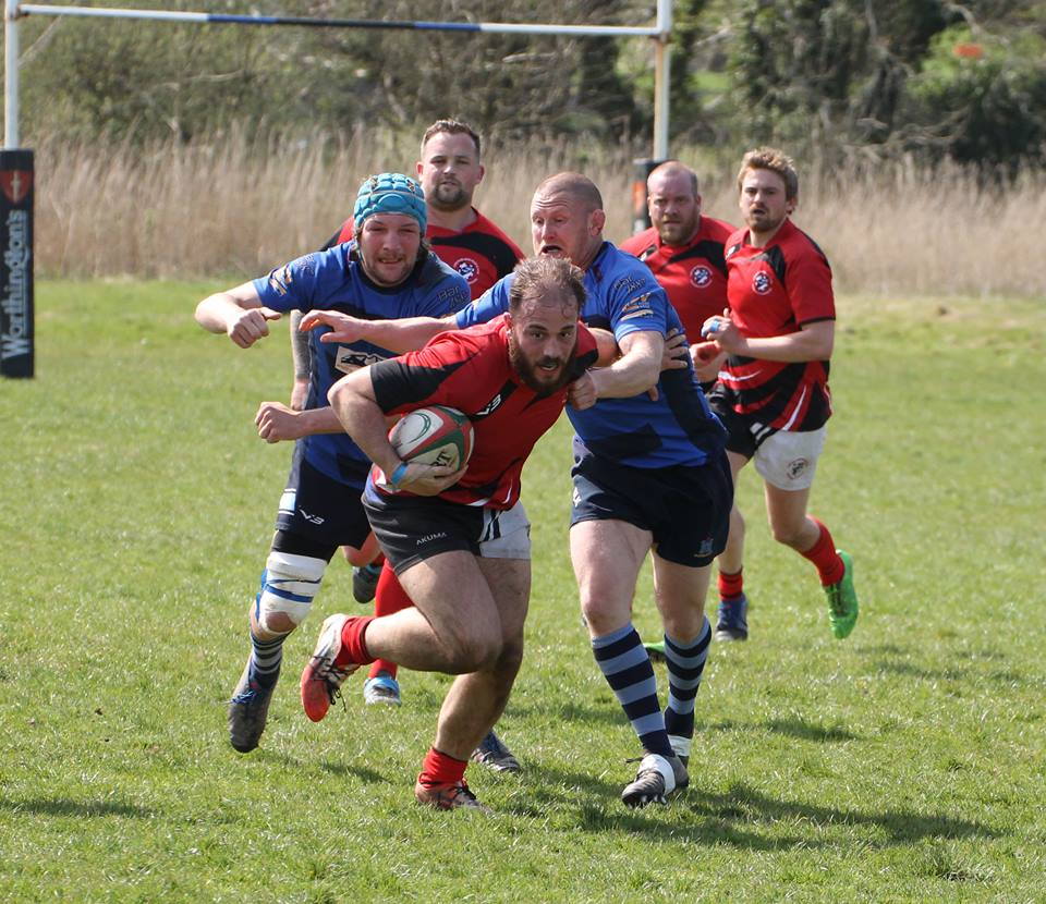 Chris Shousha on the charge for Fishguard. PICTURE: Andrew Butler.
