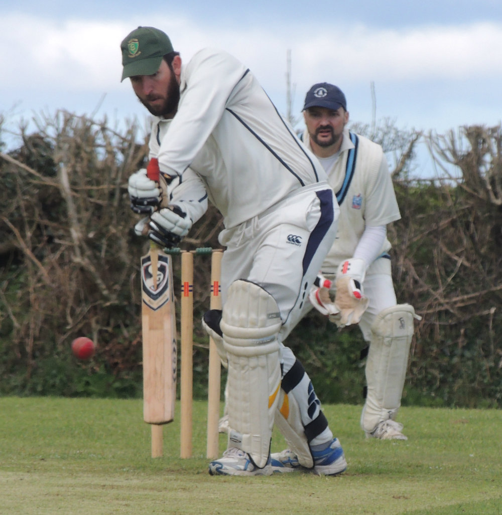 Robbie Neill bats for Burton against Haverfordwest. PICTURE: Bill Carne.