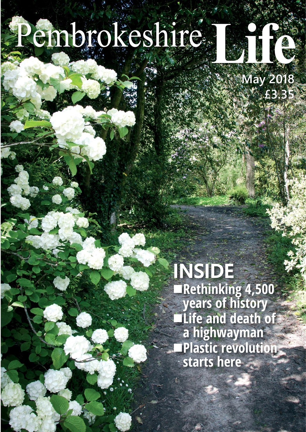 Ready to go to press - the unpublished May cover of Pembrokeshire Life magazine
