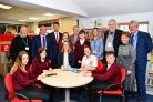 Education Cabinet Secretary Kirsty Williams AM pictured during her visit to Ysgol Y Preseli on Thursday.