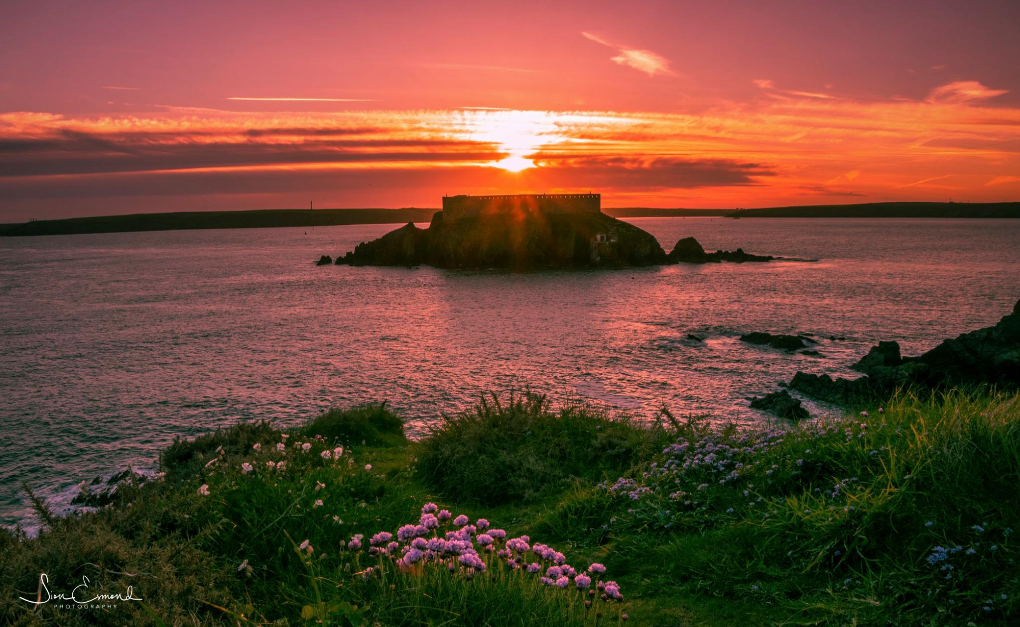 Today's Western Telegraph Camera Club Picture of the Day was taken of this amazing sunset over Thorne Island.