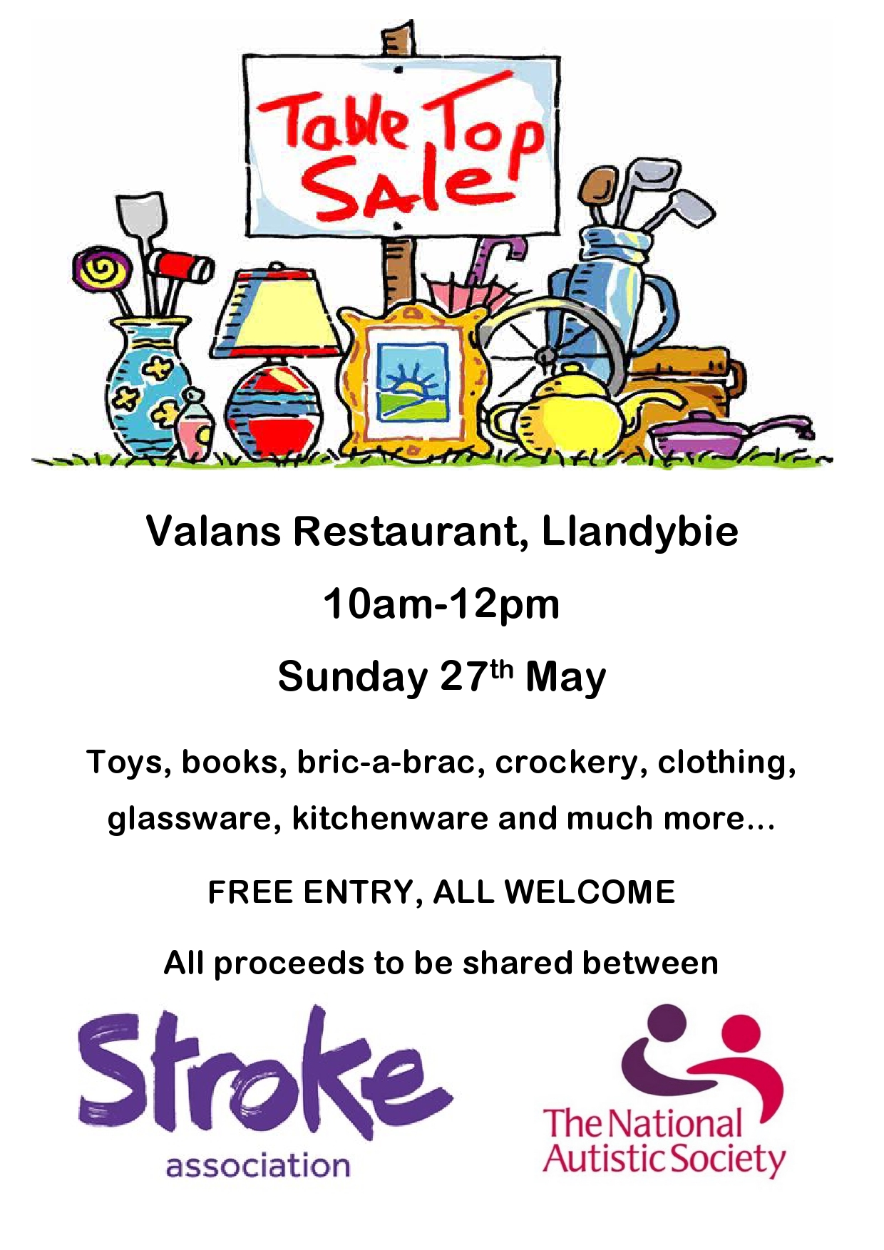 Charity Table Top Sale