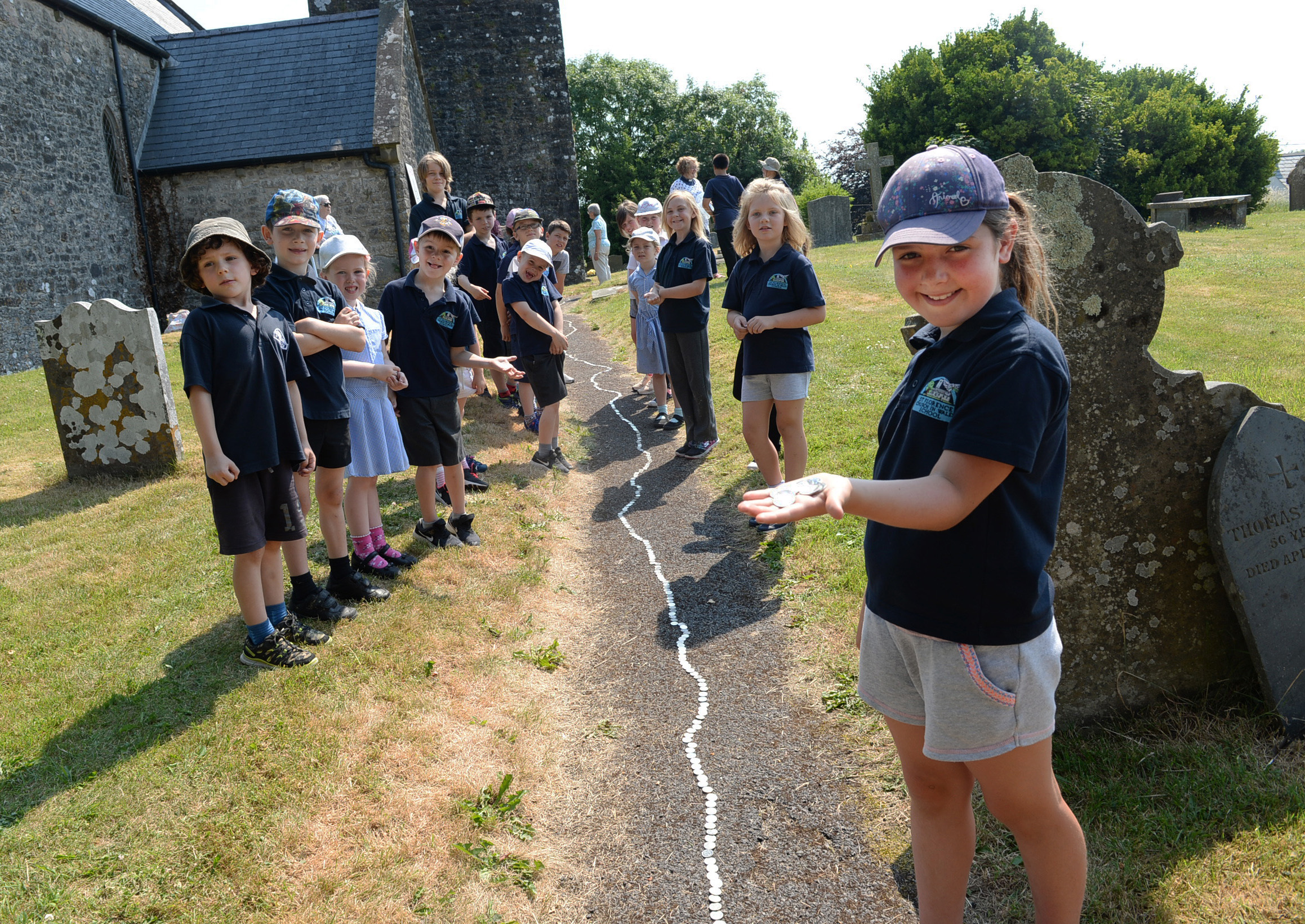 St Florence School's 10p trail added up to £190 worth of fundraising for the village church appeal.  PICTURE: Gareth Davies Photography.