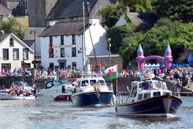 The flotilla of boats at a previous Pembroke River Rally. PICTURE: Martin Cavaney.