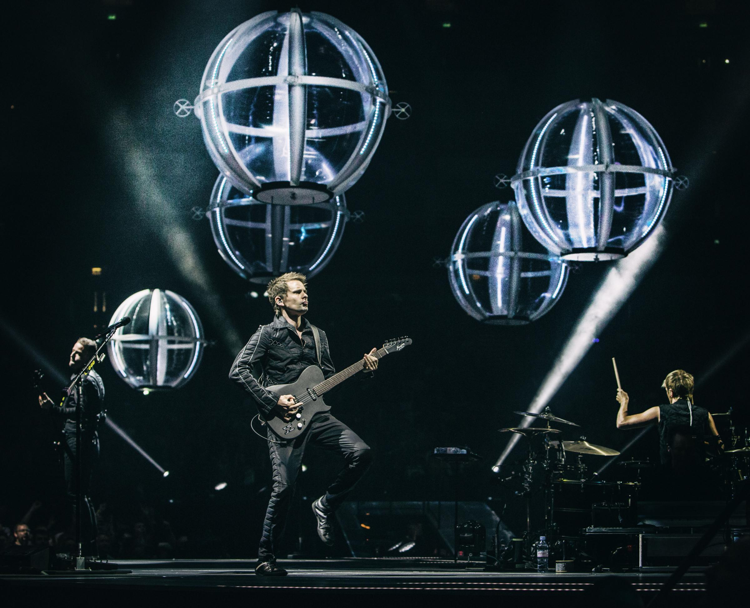 Muse take to the big screen in Cardigan. PICTURE: Hans-Peter van Velthoven