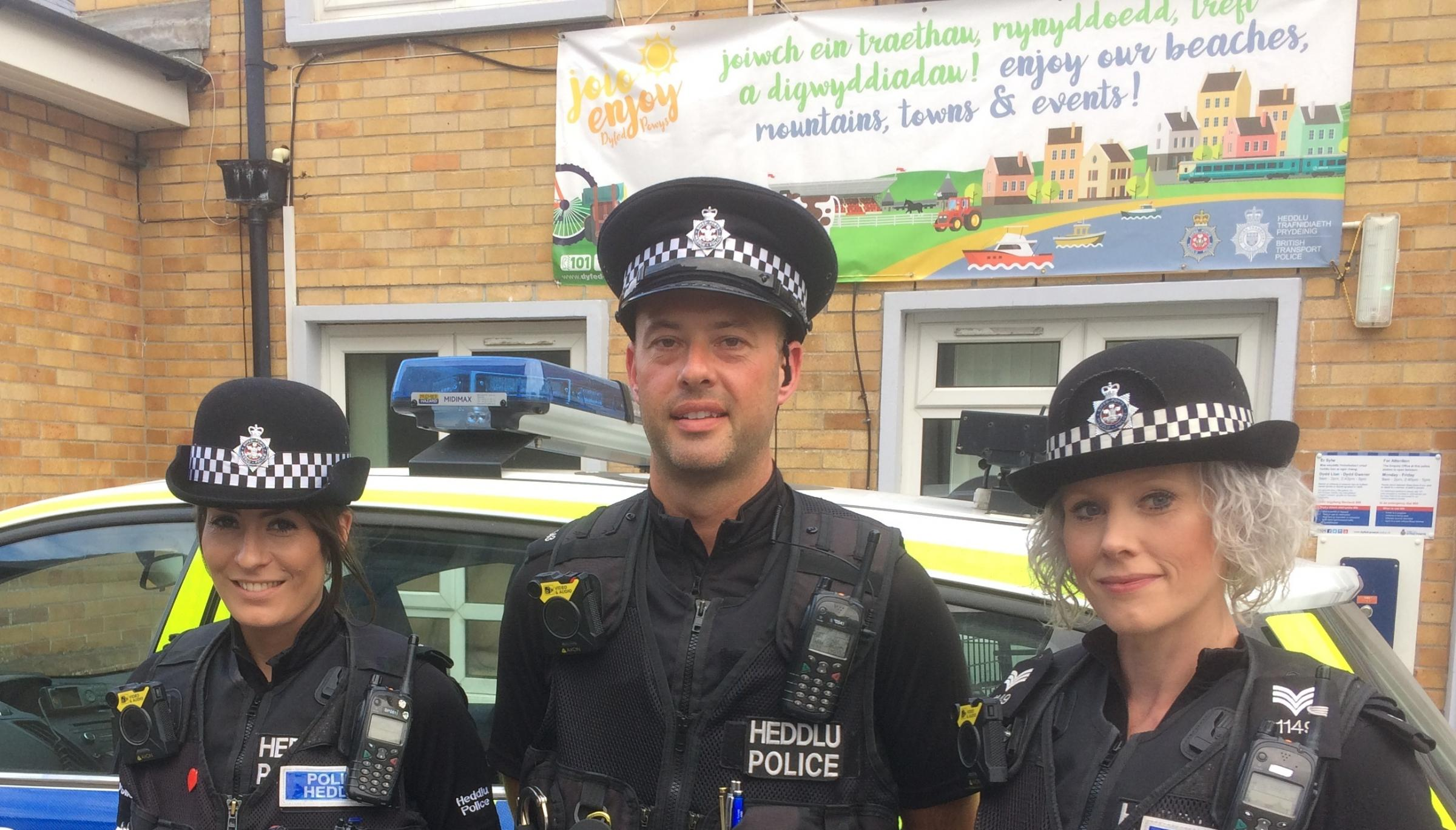 Officers who have been taking part in Operation Lion:PC Kelly Jones, PC Christian Rowlands, Sgt Bev Rodriguez.