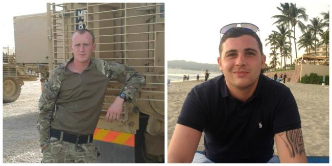 Corporals Darren Neilson and Matthew Hatfield died in a tank explosion. PICTURE: PA.