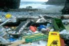 Fly-tipping found along the Pembrokeshire coast near St. Govan's Head