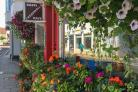 Creswell's cafe is covered in brilliant blooms. PICTURE: ulia Moffett
