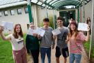 Greenhill pupils celebrate A-Level success. PICTURE: Gareth Davies Photography.
