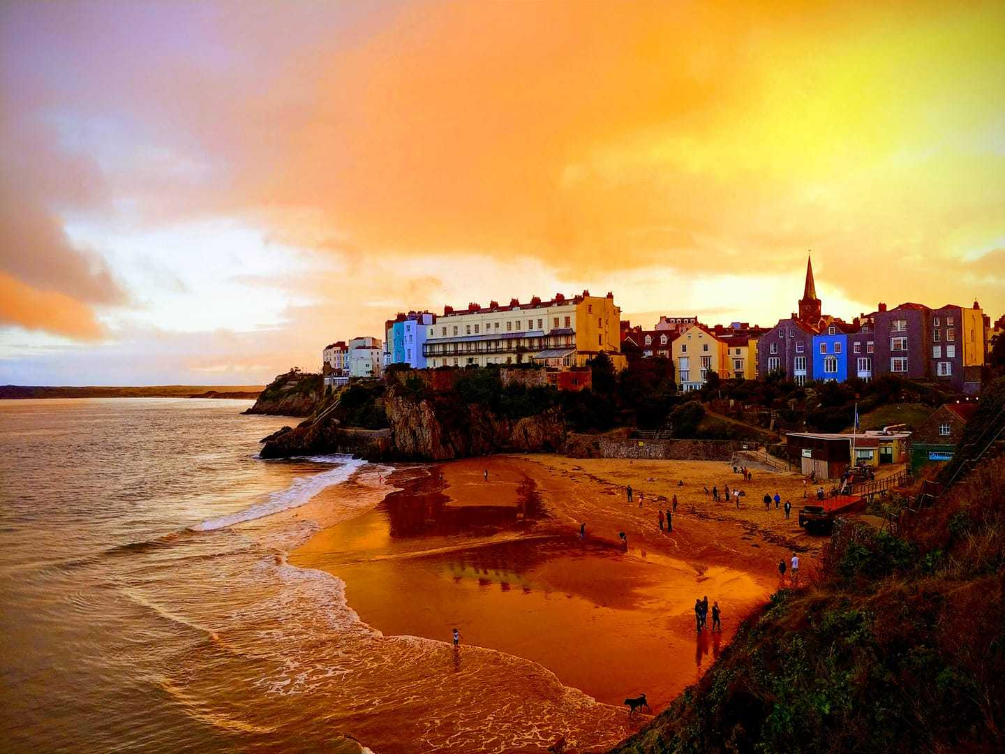 Dramatic picture of Tenby taken by Camera Club member Mark Dimbleby
