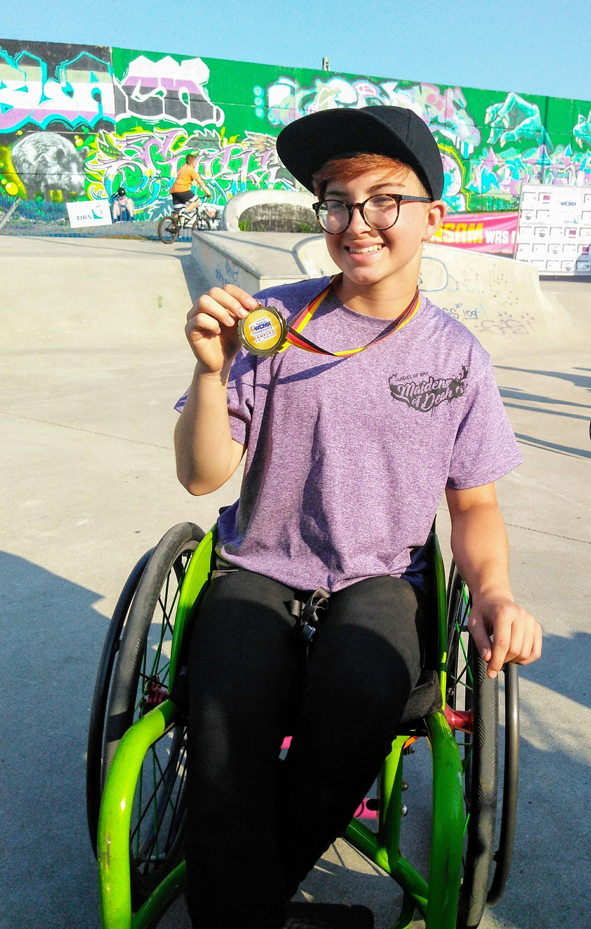Manorbier wheelchair sports star Lilly strikes gold