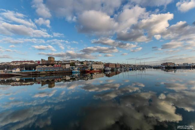 Waterfront reflections in Milford Haven taken by Camera Club member Jason Davies