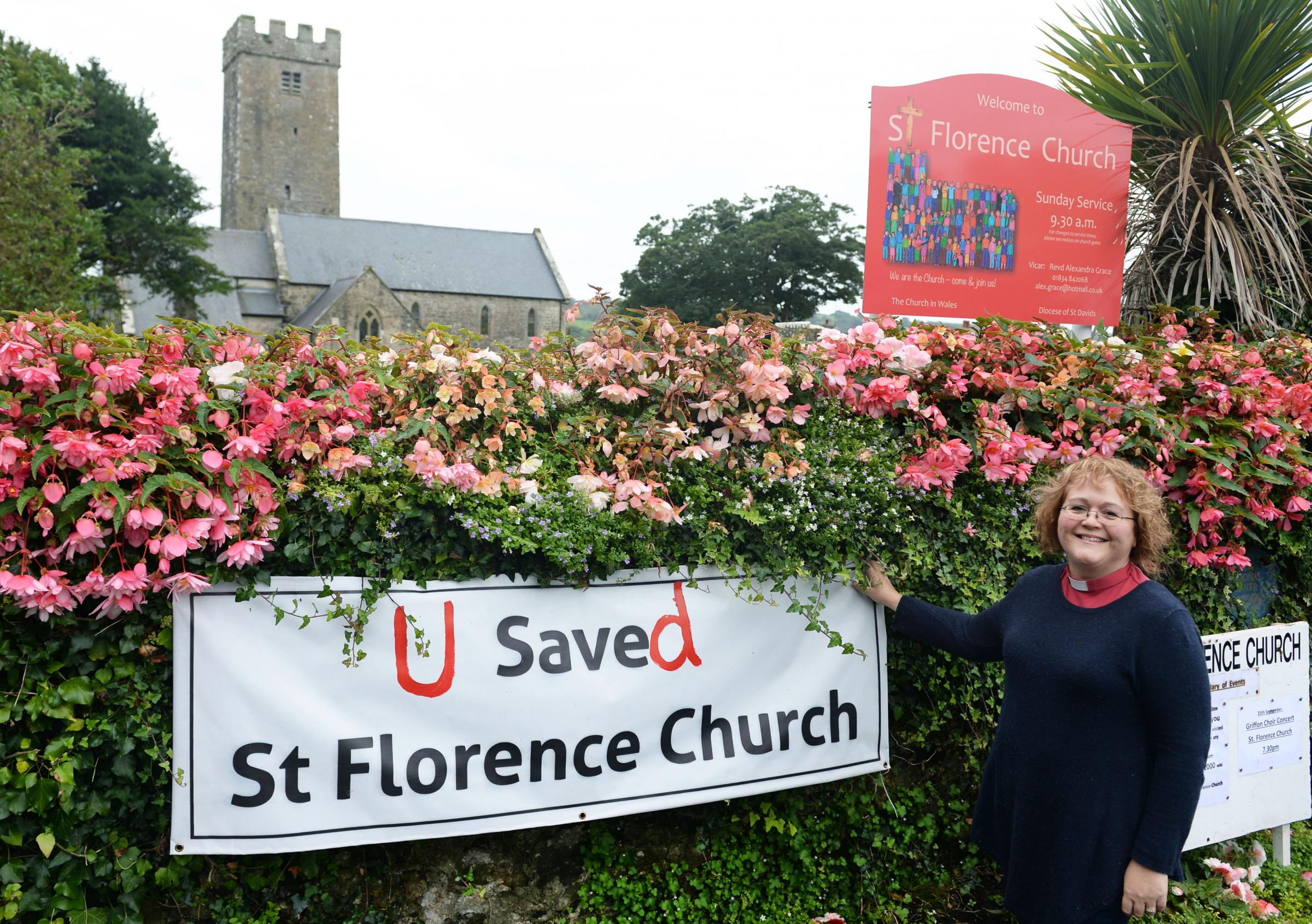 "The Save St Florence Church fund has smashed its target and raised the ""incredible"" sum of over £22,700, says vicar Alex Grace. PICTURE: Gareth Davies Photography."