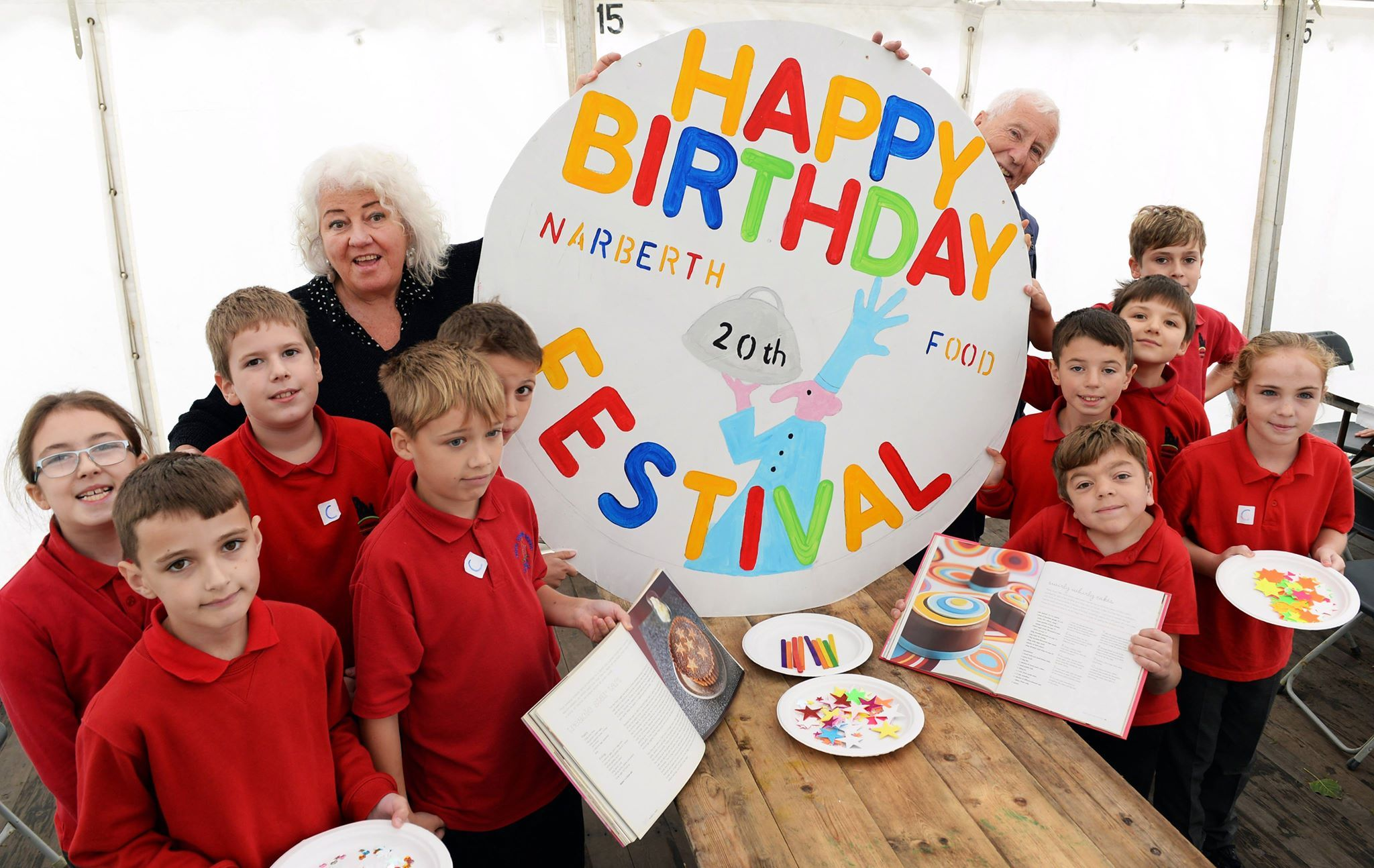 Birthday celebration time at Narberth Food Festival's Education Day today (Friday), ahead of the weekend's main event. PICTURE: Gareth Davies Photography