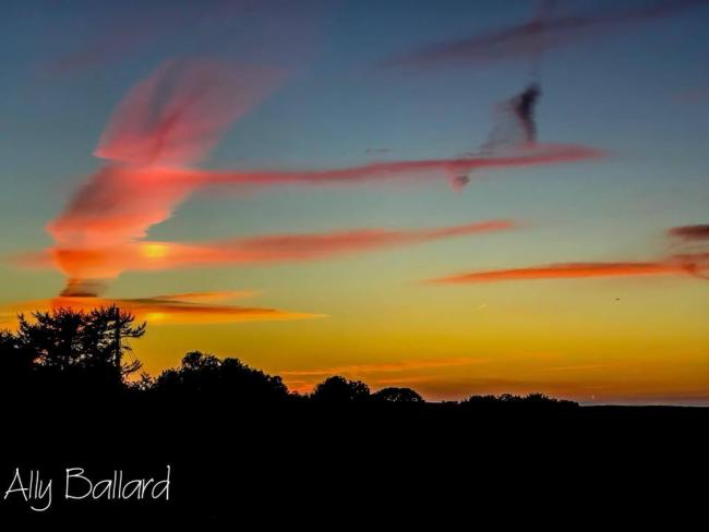 September sunset taken by Ally Ballard