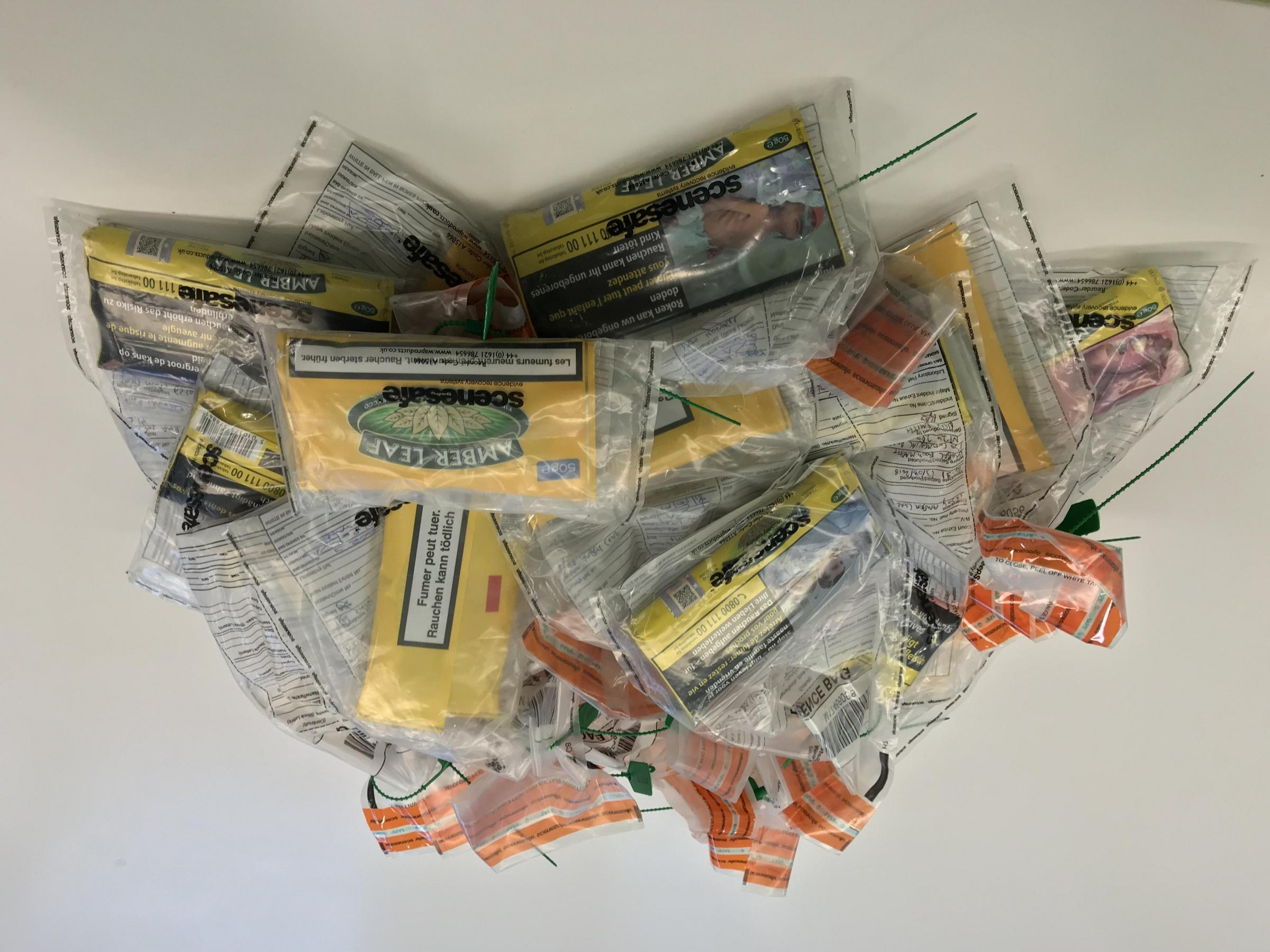 Illegal tobacco seized. PICTURE: Japan Tobacco International .