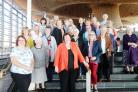 Mid and West Wales AM Helen Mary Jones is pictured with members of Hayscastle WI at the Senedd.