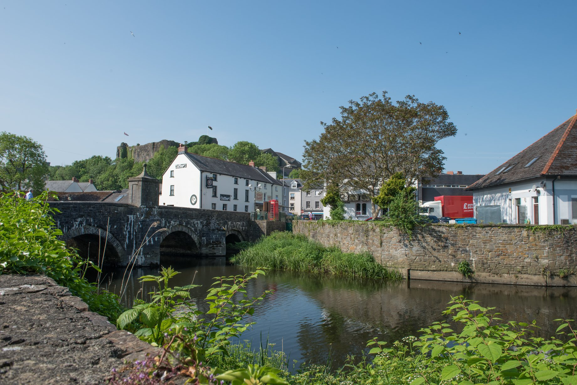 The old bridge in Haverfordwest taken by Robert Page