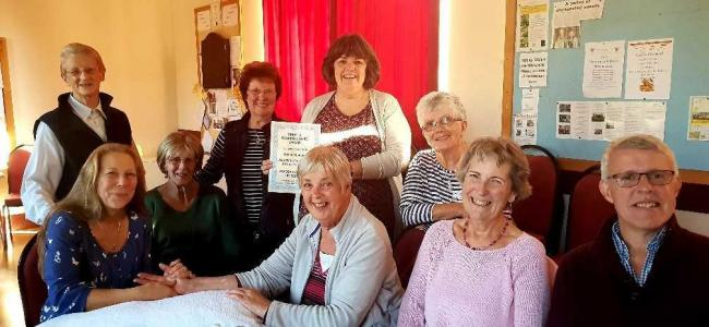 Members of the Llanrhian Camomile Club, formerly known as Llanrhian Carers and ex-Carers group.