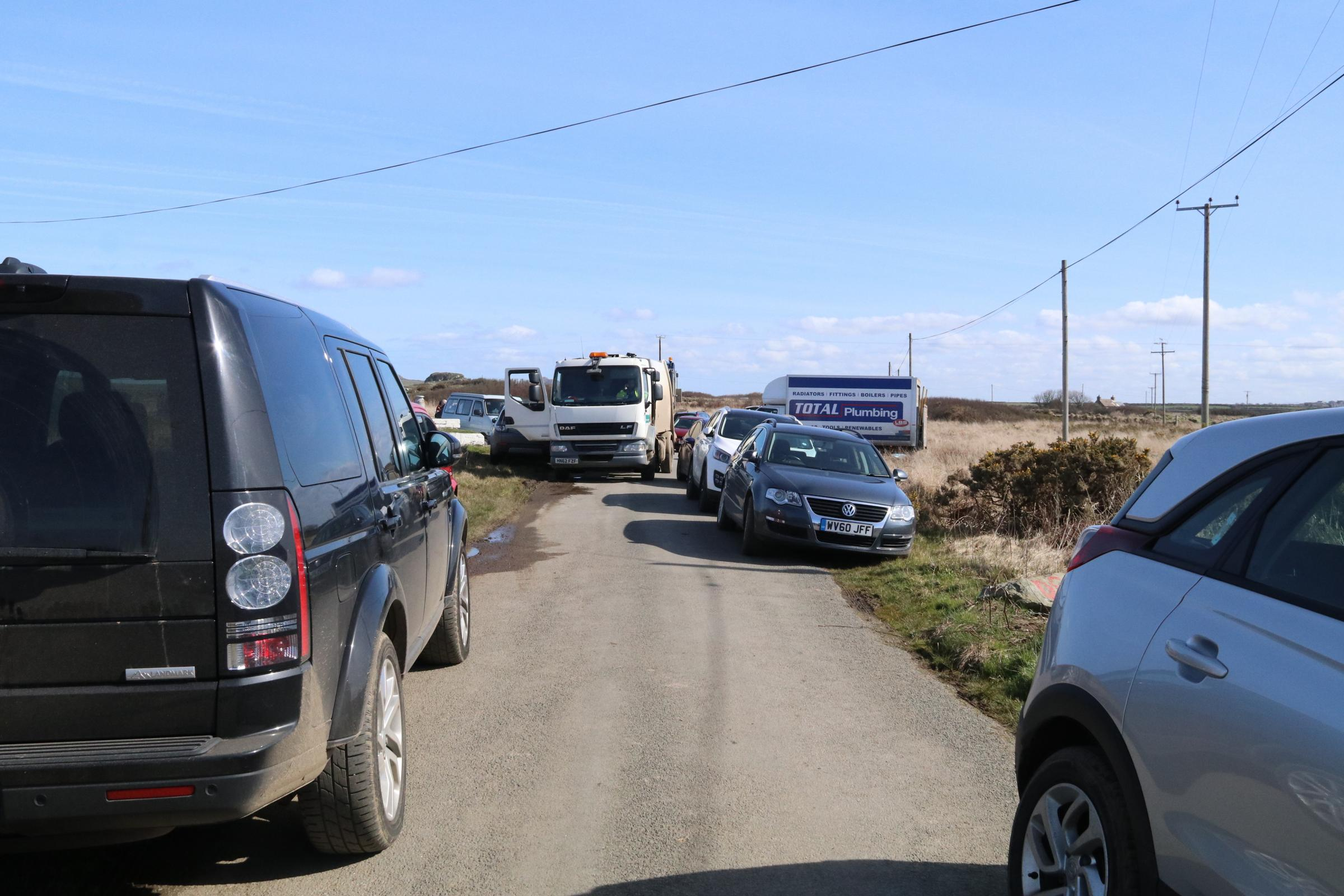 There was car parking chaos around St Justinians following the closure of the car park.