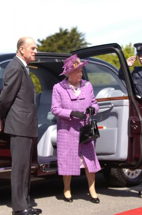 HM The Queen and HRH The Duke of Edinburgh visit South Hook LNG in May 2009.