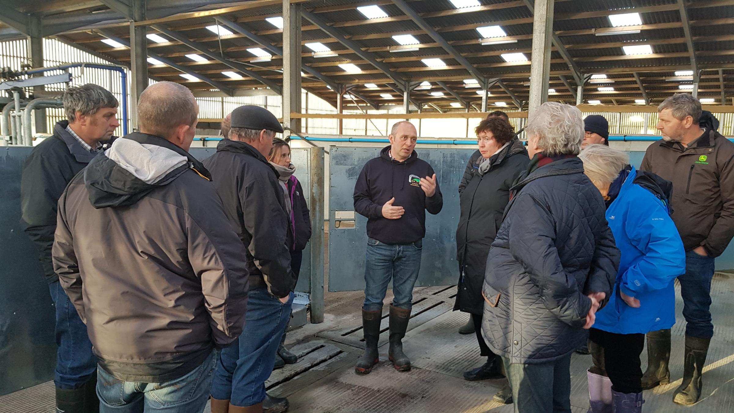 Helen Mary Jones AM discusses the most pressing #FarmingMatters at Treclyn Isaf, Eglwyswrw