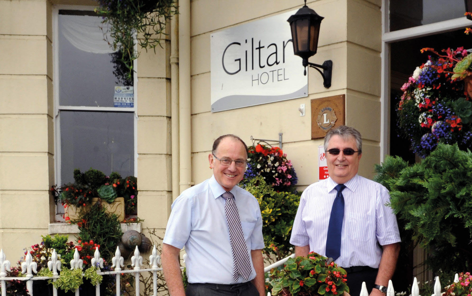 Pictured, from left: Giltar Hotel owners Patrick Jenkins and Malcolm Brace.