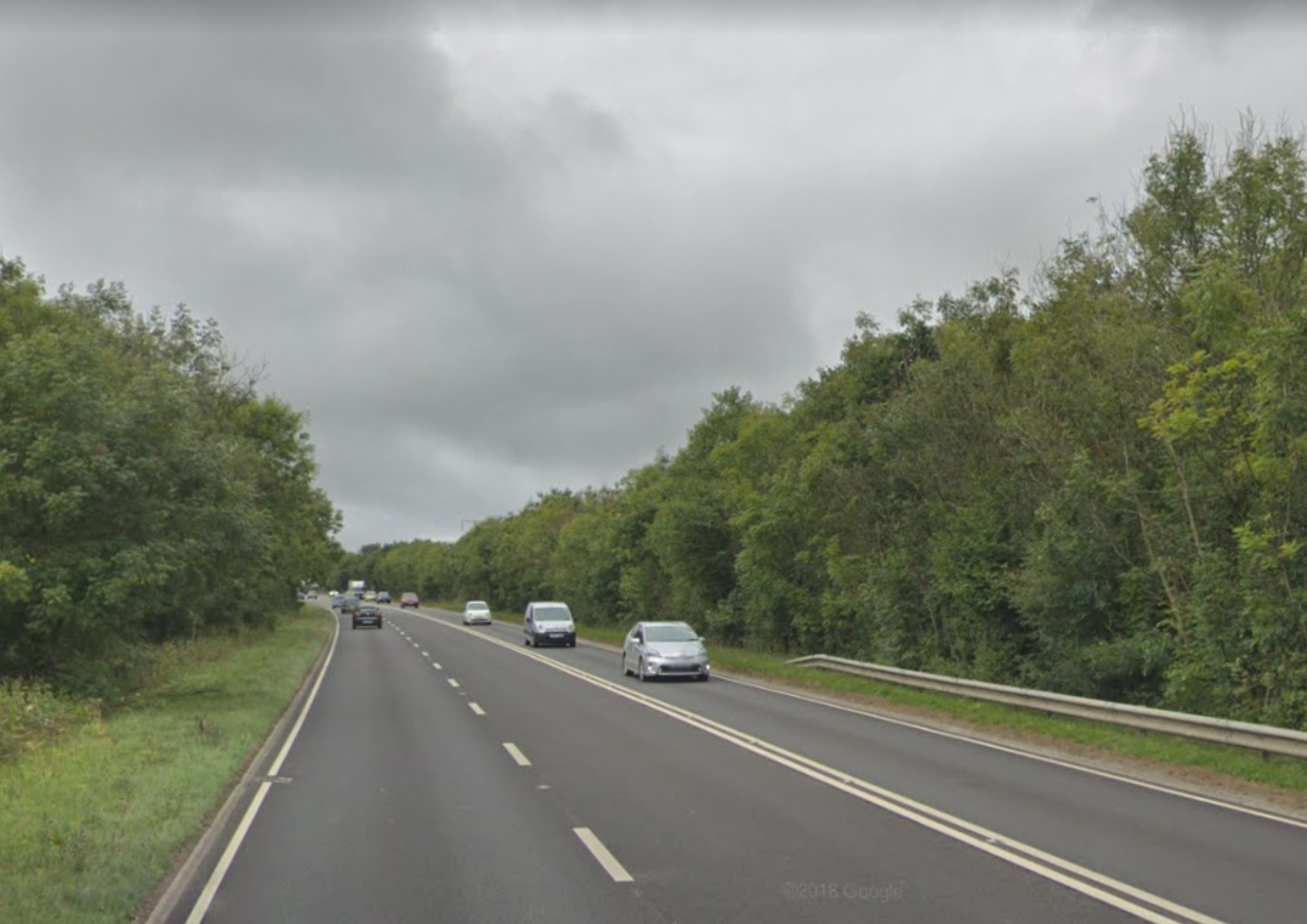 Police are asking for information about a crash on the A40 near Pont-y-Fenni. PICTURE: Google Maps.