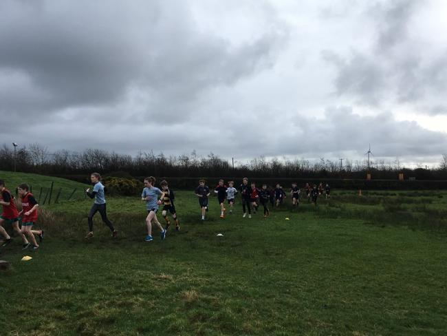 Schools' athletes taking park in the cross-country championships held at Oakwood Theme Park. PICTURE: Nathan Jones.