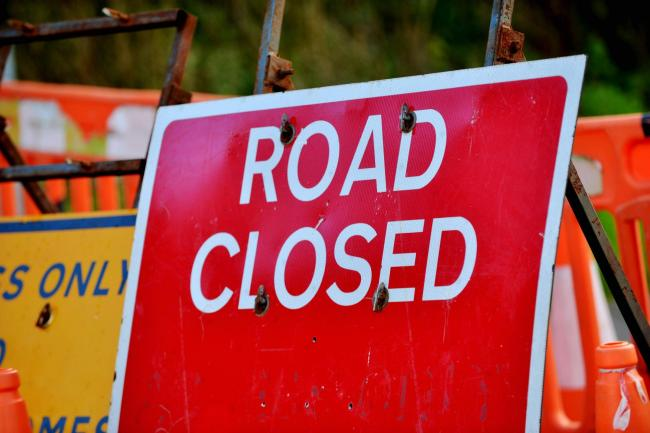 The road will be closed for six weeks. Picture: Tom Kay