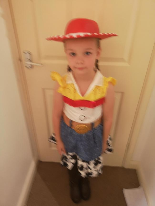 Seren Chapman and Caleb Chapman from Hakin dressed as Jessie and Woody from Toy Story
