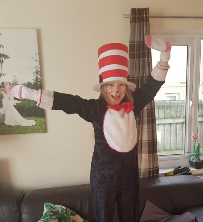 Lilah Doble age 9 from Narberth  Cat in the hat