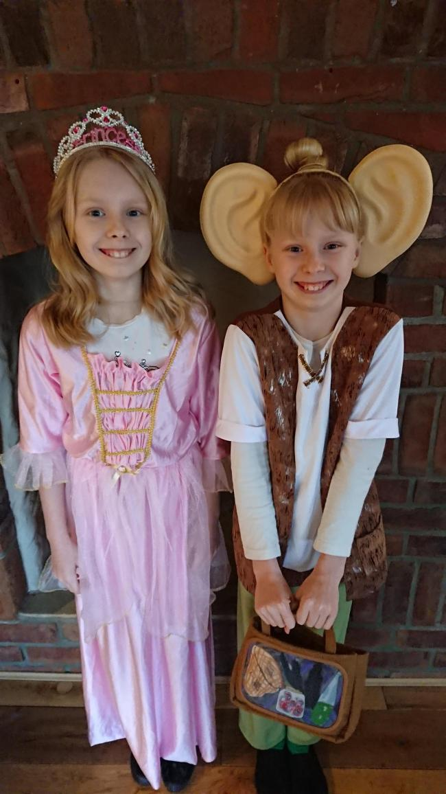 Twin sisters Molly & Layla O'Neill-Wilkinson from Robeston Wathen age 10 go to Saundersfoot School. Dressed as Sleeping Beauty and BFG.