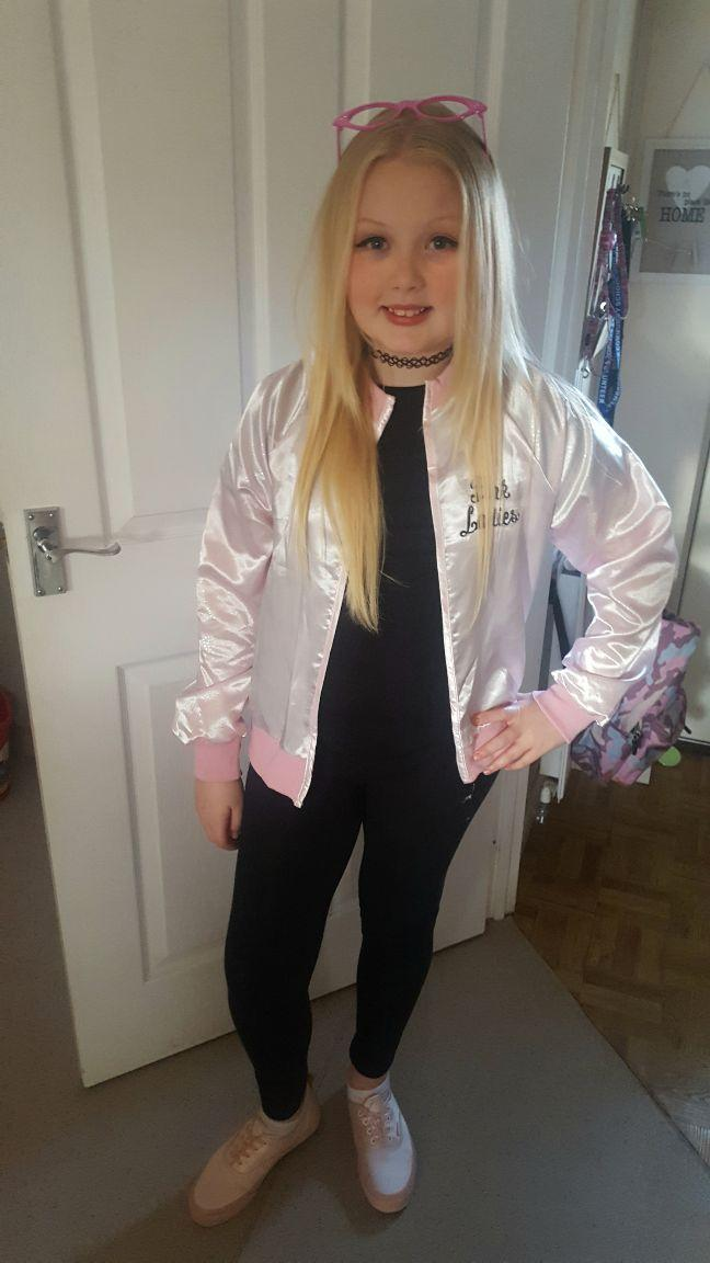 Ella Youell. Dressed as Sandy from Grease. Pembroke.