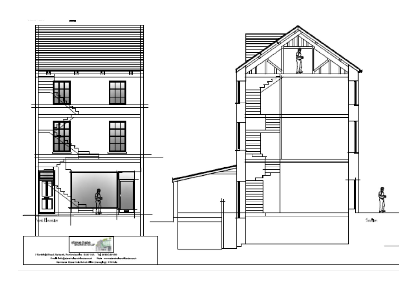 Plans for 4 Victoria Place. The upper floors of the building could be converted into a flat. PICTURE: PCC Planning.