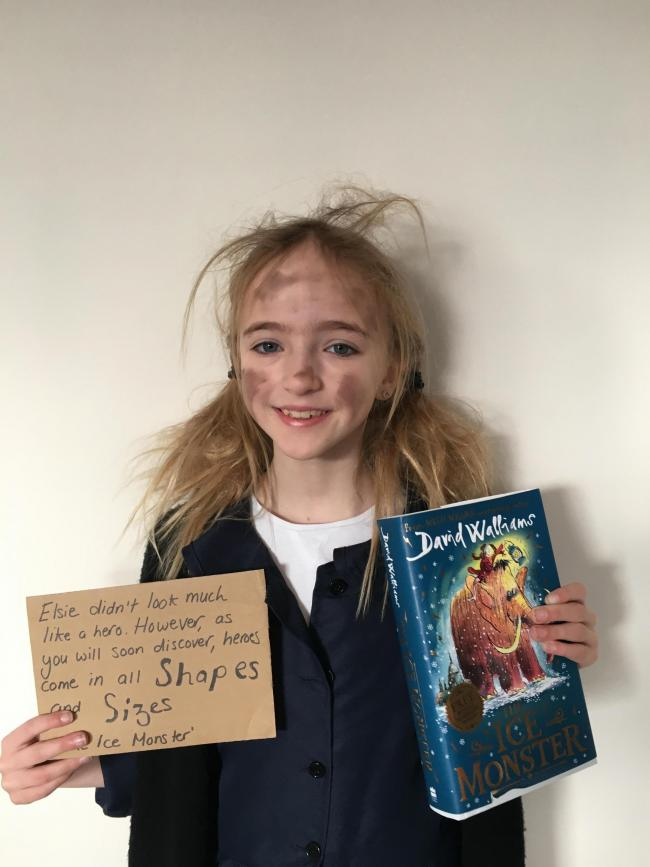 Seren Smith, Saundersfoot. Dressed as Elsie from The Ice Monster by David Walliams