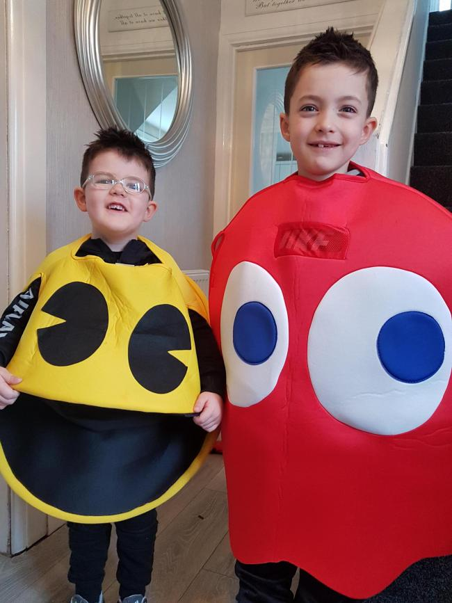 Ben and Zac Weston from Pembroke Dock Community School. Age 5 and 8